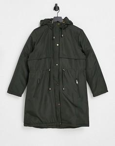 Куртка-парка с капюшоном цвета хаки Brave Soul Egypt-Зеленый цвет