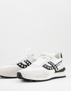 Кроссовки серовато-белого/черного цвета с заклепками Ash-Разноцветный