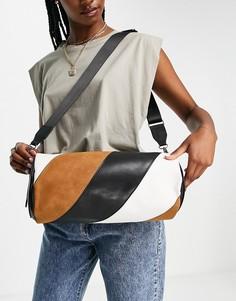 Черная сумка-дафл со вставками разных цветов NA-KD-Черный цвет