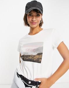 Белая футболка с графическим принтом и логотипом Levis-Белый