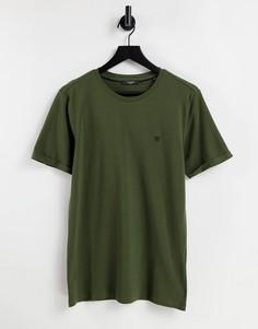 Футболка цвета хаки из ткани пике Jack & Jones Premium-Зеленый цвет