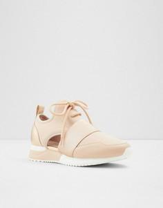 Пудрово-розовые кроссовки с вырезами ALDO Dwiedia-Розовый цвет