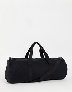 Спортивная сумка объемом 37 литров, из черного трикотажа, с длинным ремешком ASOS DESIGN-Черный цвет
