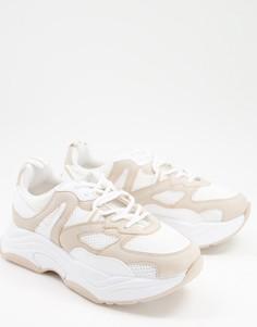 Бежевые кроссовки на толстой подошве Topshop Cameron-Светло-бежевый цвет