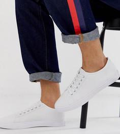 Белые парусиновые кроссовки для широкой стопы ASOS DESIGN-Белый