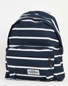 Рюкзак в черно-белую полоску Eastpak Padded Pakr-Черный цвет