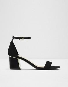 Черные босоножки на широком каблуке ALDO Kedeaviel-Черный цвет