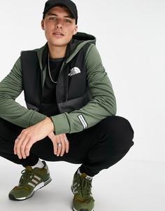 Куртка цвета хаки со вставками The North Face Mountain Athletic-Зеленый цвет