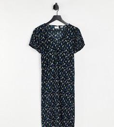 Платье мини с цветочным принтом и пышными рукавами Mamalicious-Разноцветный Mama.Licious