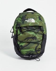 Маленький рюкзак с камуфляжным принтом The North Face Borealis-Зеленый цвет