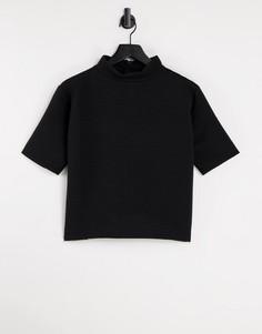 Черная футболка French Connection-Черный цвет