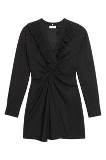 Черное платье с оборками Sandro