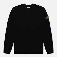 Мужской свитер Stone Island Classic Ribbed Neck Wool, цвет чёрный, размер XL