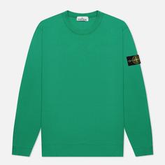 Мужская толстовка Stone Island Crew Neck Cotton Fleece, цвет зелёный, размер S