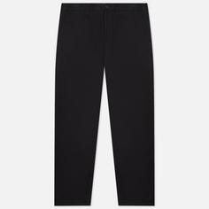 Мужские брюки Stone Island Stretch Gabardine Regular Chino, цвет чёрный, размер 36