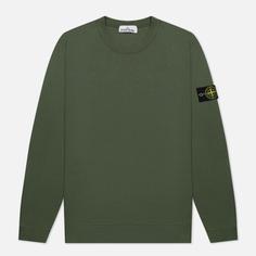 Мужская толстовка Stone Island Crew Neck Cotton Fleece, цвет оливковый, размер L