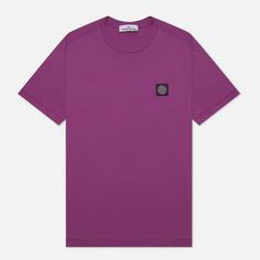 Мужская футболка Stone Island Small Logo Patch, цвет фиолетовый, размер XXL