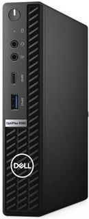 Компьютер Dell Optiplex 5080 Micro i7-10700T/16GB/1TB/256GB SSD/UHDG 630/Win10Pro/GBitEth/WiFi/BT/130W/клавиатура/мышь/черный
