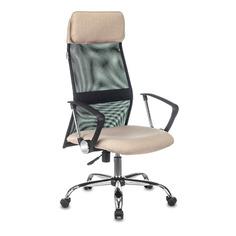 Кресло руководителя Бюрократ KB-6N, на колесиках, сетка/ткань, бежевый [kb-6n/sl/b/402-bg]