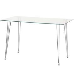 Стол обеденный Dowell стеклянный 120х70х75 см