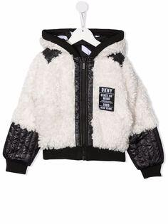 DKNY куртка из шерпы с капюшоном