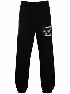 Off-White спортивные брюки с принтом Caravaggio