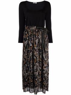 LIU JO многослойное платье с плиссировкой