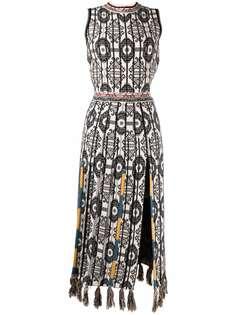 ETRO платье миди без рукавов с узором