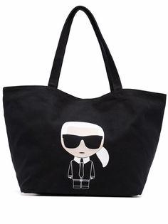Karl Lagerfeld сумка-тоут с принтом Karl