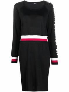 LIU JO платье-свитер с полосками