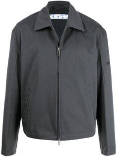 Off-White куртка-рубашка на молнии