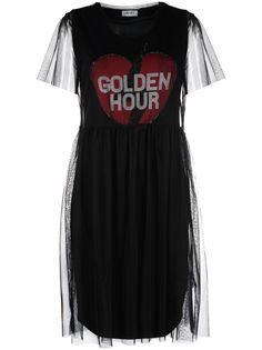 LIU JO платье с графичным принтом