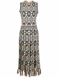 ETRO жаккардовое платье с узором