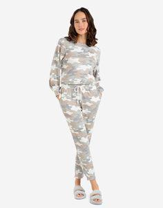 Домашние брюки-джоггеры с камуфляжным принтом Gloria Jeans