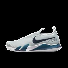 Мужские теннисные кроссовки для игры на грунтовых кортах NikeCourt React Vapor NXT - Серый