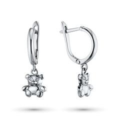 Серьги из серебра с бриллиантом э0601сг04202797 ЭПЛ Якутские Бриллианты