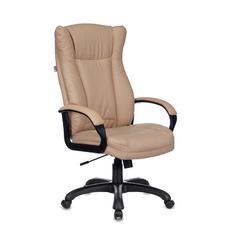 Кресло руководителя Бюрократ CH-879N, на колесиках, искусственная кожа, бежевый [ch-879n/beige]
