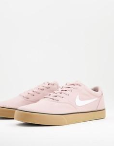 Розовые кроссовки из парусины Nike SB Chron 2 Skate-Розовый цвет