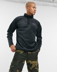 Черная флисовая куртка с воротом на кнопках Columbia Steens Mountain-Черный цвет
