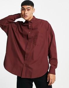 Коричневая винтажная рубашка в стиле extreme oversized ASOS DESIGN-Коричневый цвет