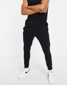 Черные зауженные джоггеры от комплекта Topman-Черный цвет