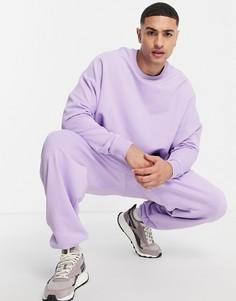 Сиреневые джоггеры в стиле super oversized от комплекта ASOS DESIGN-Фиолетовый цвет