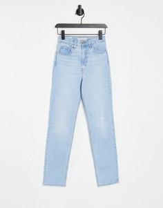 Светлые джинсы с прямыми штанинами Levis 70s-Голубой