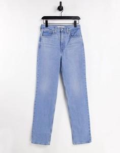 Голубые джинсы с прямыми штанинами Levis 70s-Голубой