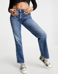 Расклешенные джинсы до щиколотки выбеленного синего цвета с классической талией Pepe Jeans-Голубой