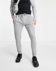 Серые зауженные джоггеры от комплекта Topman-Серый