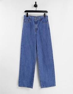 Выбеленные джинсы прямого кроя с высокой посадкой Levis-Голубой
