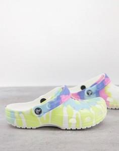 Классические кроксы в пастельных тонах с расцветкой тай-дай Crocs-Многоцветный