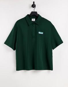 Зеленая футболка-поло в стиле oversized с логотипом Lacoste-Зеленый цвет