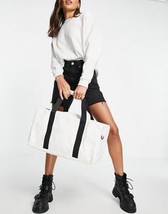 Спортивная сумка кремового цвета Rains-Белый